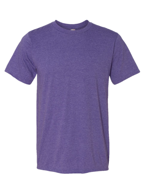 Anvil---Lightweight-Short-Sleeve---980-Heather-Purple-Front