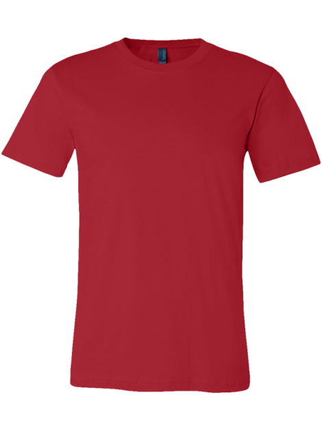 Bella_Canvas_Unisex_3001_Red_Front