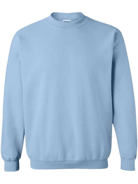 Gildan---Heavy-Blend-Crewneck---18000-Light-Blue-Front