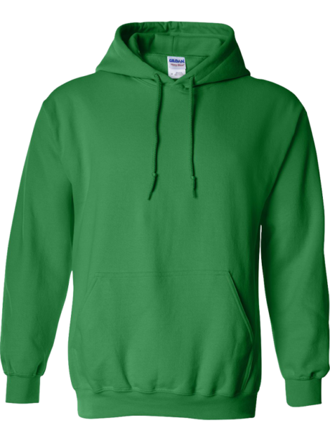 Gildan---Heavy-Blend-Hooded---18500-Irish-Green-Front