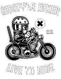Chopper biker