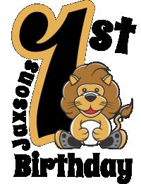 Jaxons first birthday