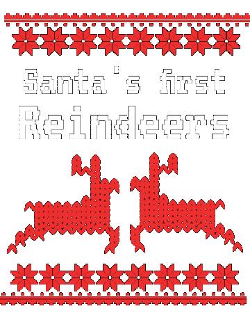 Santa's first reindeer