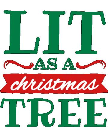 Lit as a christmas tree